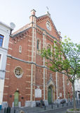 Immaculee Conception Church in Place du Jeu de Balle, Brussels, Belgium Royalty Free Stock Photography