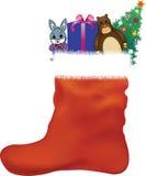 Immagazzinamento di Natale Immagine Stock