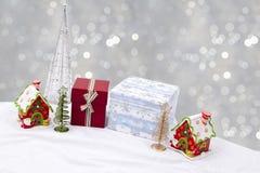 Immagazzinamento di Natale decorato con la glassa multicolore Fotografie Stock Libere da Diritti