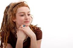 Immagazzini la foto di giovane donna graziosa Fotografia Stock Libera da Diritti