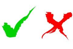Immagazzini la foto: Tacche di verde & di colore rosso Immagini Stock