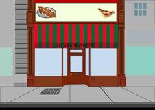 Immagazzini Ristorante Anteriore-italiano (ristorante) Fotografie Stock