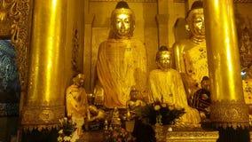 Immage Будды на пагоде Shwedagon Стоковые Фотографии RF