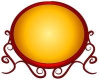 Immaginazione rossa dell'oro di marchio di Web page Fotografia Stock