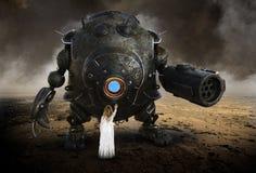 Immaginazione surreale, fantasia, ragazza, robot Droid fotografie stock libere da diritti