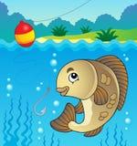 Immagine 1 di tema dei pesci d'acqua dolce Fotografia Stock Libera da Diritti