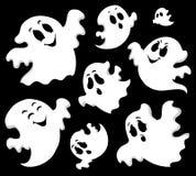 Immagine 1 di tema del fantasma Immagini Stock