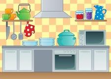 Immagine 1 di tema della cucina Immagini Stock Libere da Diritti