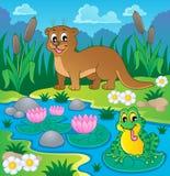 Immagine 1 di tema di fauna del fiume Immagine Stock Libera da Diritti
