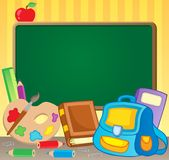 Immagine 1 di tema di Schoolboard Immagine Stock Libera da Diritti