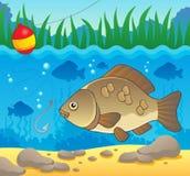 Immagine 2 di tema dei pesci d'acqua dolce Fotografia Stock Libera da Diritti