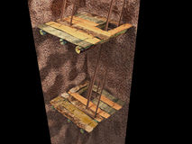 immagine 3d della miniera in sotterraneo Immagine Stock