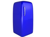immagine 3D: Frigorifero blu Fotografia Stock Libera da Diritti