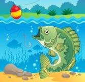 Immagine 4 di tema dei pesci d'acqua dolce Fotografia Stock Libera da Diritti