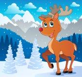 Immagine 4 di tema della renna Fotografia Stock