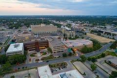 Immagine aerea del centro medico Des Moines Iowa di pietà fotografia stock libera da diritti