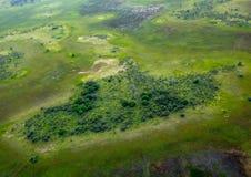 Immagine aerea del delta di Okavango nel Botswana fotografia stock libera da diritti