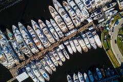 Immagine aerea del Fort Lauderdale delle barche Immagini Stock Libere da Diritti
