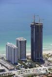 Immagine aerea della costruzione del highrise Immagine Stock