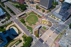 Immagine aerea della plaza Richmond del centro VA di Kanawha fotografia stock libera da diritti