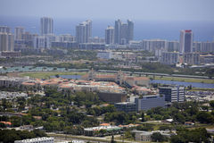Immagine aerea di Hallandale Florida Fotografia Stock Libera da Diritti