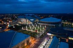 Immagine aerea di Mercedes Benz Stadium Atlanta fotografia stock libera da diritti