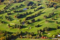 Immagine aerea di un campo da golf. Fotografie Stock Libere da Diritti