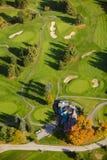 Immagine aerea di un campo da golf. Fotografia Stock