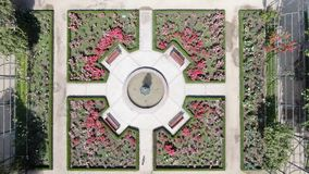 Immagine aerea di un roseto ad un parco fotografia stock