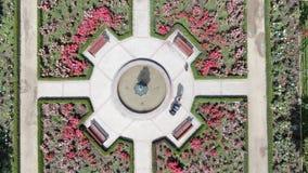 Immagine aerea di un roseto ad un parco immagini stock libere da diritti