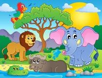 Immagine africana sveglia 9 di tema degli animali Immagine Stock