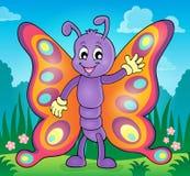 Immagine allegra 2 di tema della farfalla Immagini Stock Libere da Diritti