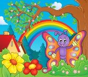 Immagine allegra 3 di tema della farfalla Immagine Stock Libera da Diritti