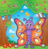 Immagine allegra 4 di tema della farfalla Fotografia Stock Libera da Diritti