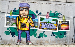 Immagine anonima dei graffiti Fotografia Stock Libera da Diritti