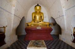 Immagine antica di Buddha nel Myanmar fotografia stock libera da diritti