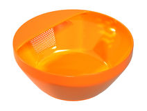 Immagine arancio di colore dello stainer di plastica della ciotola immagini stock