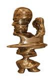 Immagine artistica della testa in oro immagine stock
