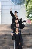 Immagine asiatica 5 di graduazione dell'istituto universitario Fotografia Stock Libera da Diritti