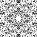 Immagine astratta in bianco e nero del modello illustrazione vettoriale