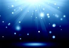 Immagine astratta del chiarore blu di illuminazione sulla fase del pavimento: Materiale di riempimento Fotografie Stock
