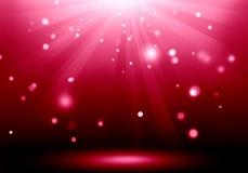 Immagine astratta del chiarore di luce rossa sulla fase del pavimento: Riempia la o Fotografia Stock Libera da Diritti