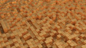 Immagine astratta del fondo dorato dei cubi illustrazione di stock