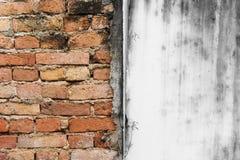 Immagine astratta del fondo rosso di lerciume di struttura del muro di mattoni del manico Fotografie Stock
