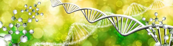 immagine astratta del primo piano a catena del DNA immagini stock