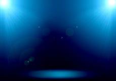 Immagine astratta del riflettore del chiarore 2 di illuminazione di cielo sulla st del pavimento Immagini Stock
