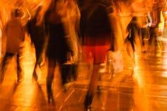 Immagine astratta della gente che ritorna a casa dopo il lavoro Immagini Stock Libere da Diritti