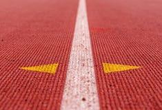 Immagine astratta della pista di atletica Fotografia Stock Libera da Diritti