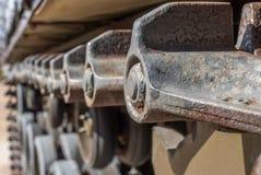 Immagine astratta delle piste del carro armato Fotografie Stock Libere da Diritti