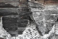 Immagine astratta di falegnameria del legno in vecchia chiesa fotografie stock libere da diritti